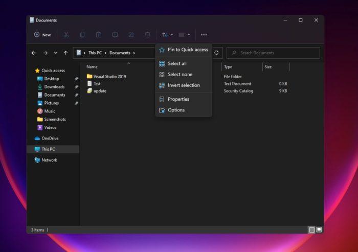 Explorador de Arquivos com barra superior opaca (imagem: Windows Latest)