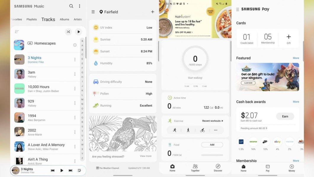 Anúncios nos apps da Samsung (Imagem: Reprodução/XDA-Developers)