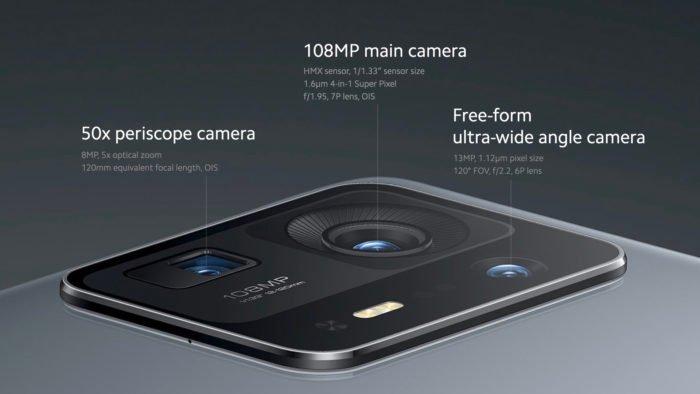 Câmeras do Xiaomi Mi Mix 4 (Imagem: Divulgação/Xiaomi)