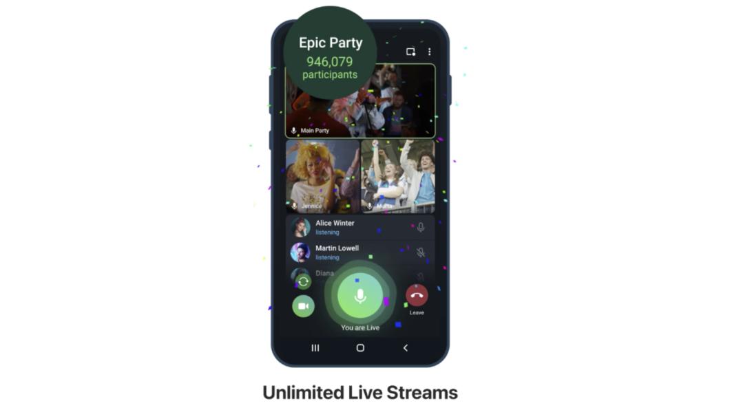 Telegram ganha transmissões ao vivo ilimitadas (Imagem: Divulgação)